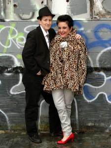Joyce Schlitz (left) and Hot Flash founder Pauline Miriam (right). Photo by Jeffrey Horvitz, PQ Monthly.