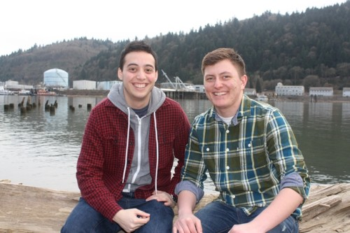 Wes Chernin (left) and Kendon Fisher (right) met via YouTube's transgender community and have been close friends ever since. Submitted photo.