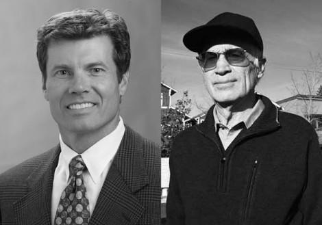 Councilor Doug Knight (left) and Mayor Jim Clinton. Source file photos.